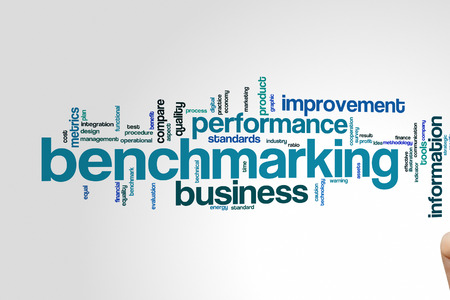 benchmarking: Benchmarking concept word cloud background