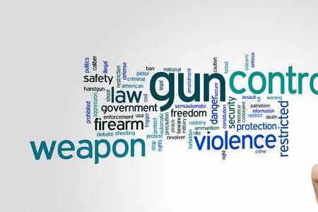 amendment: Gun control concept word cloud background