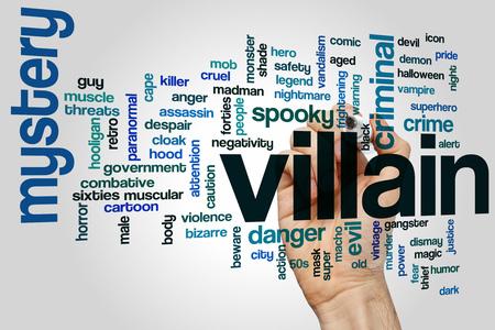 villain: Villain word cloud concept