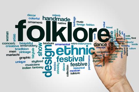 folklore: Folklore word cloud concept