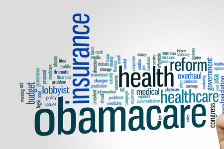 mandated: Obamacare concept word cloud background