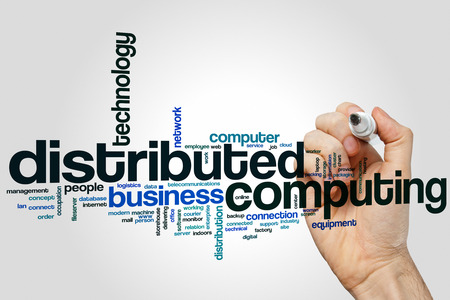distributed: Distributed computing word cloud concept
