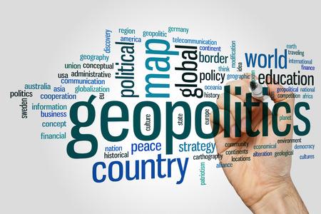 peace plan: Geopolitics concept word cloud background