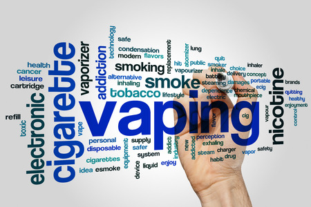 safer: Vaping concept word cloud background