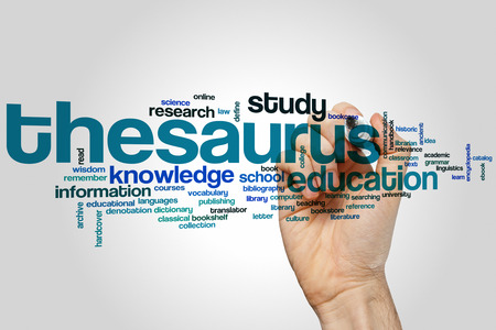 thesaurus: Thesaurus concept word cloud background