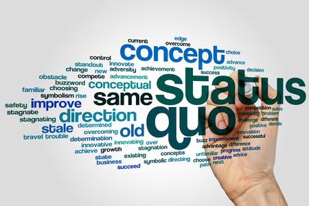 Status quo concept word cloud background