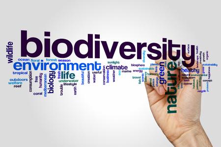 concepto de fondo de la nube palabra biodiversidad