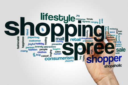 shopping spree: Shopping spree word cloud