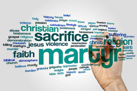 martyr: Martyr concept word cloud background