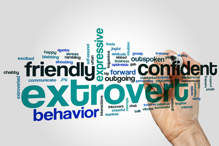 extrovert: Extrovert concept word cloud background