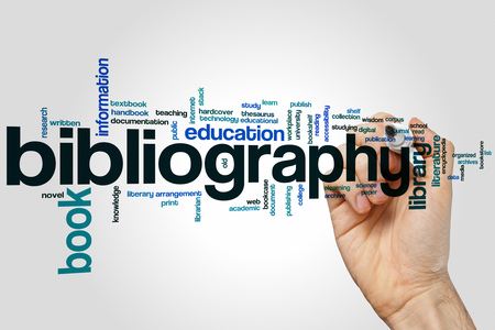 thesaurus: Bibliography concept word cloud background