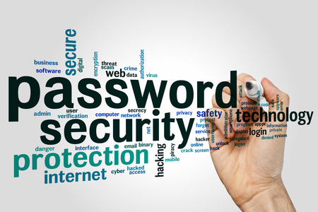 logon: Password security concept word cloud background