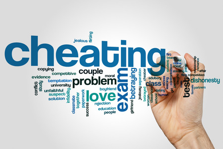 cheating: Cheating concept word cloud background Stock Photo