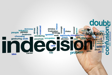 indecision: Indecision word cloud