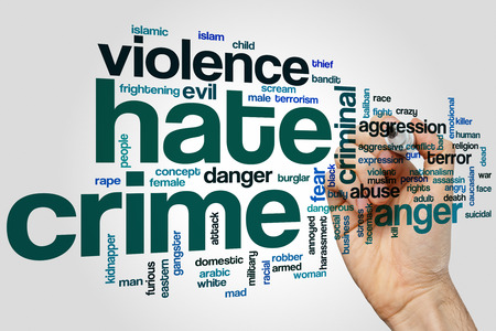 crime: Hate crime word cloud concept