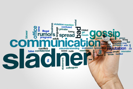 slander: Slander word cloud concept with gossip news related tags