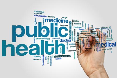 Public health word cloud concept