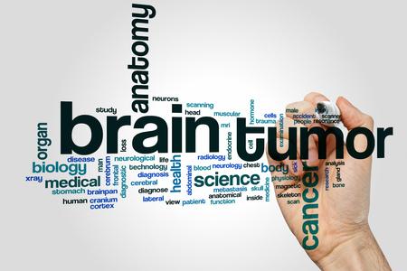 tumor: Brain tumor word cloud concept Stock Photo