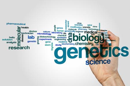 genetica: Genetica nuvola concetto di parola