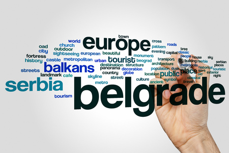 belgrade: Belgrade word cloud concept