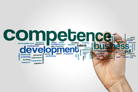 Competence word cloud Stock Photo