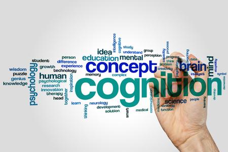 Cognition word cloud concept