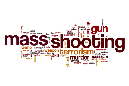 rampage: Mass shooting word cloud