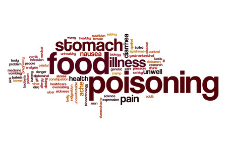 poisoning: Food poisoning word cloud Stock Photo