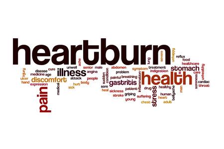 heartburn: Heartburn word cloud Stock Photo