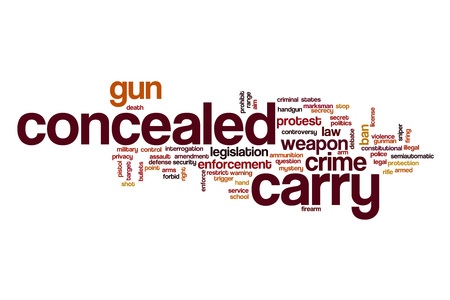 concealed: Concealed carry word cloud