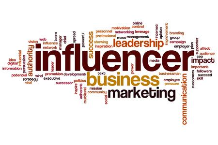 influencer: Influencer word cloud Stock Photo