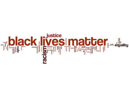 Black lives matter word cloud Archivio Fotografico