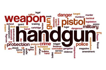 amendment: Handgun word cloud Stock Photo
