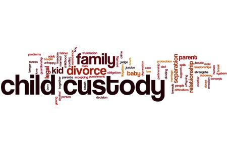Child custody word cloud Stock Photo