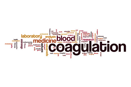 coagulation: Coagulation word cloud Stock Photo
