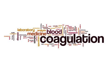 Coagulation word cloud Stock Photo