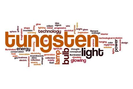 tungsten: Tungsten word cloud Stock Photo