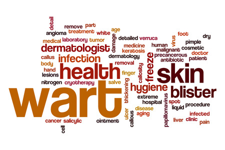 cancer foot: Wart word cloud Stock Photo