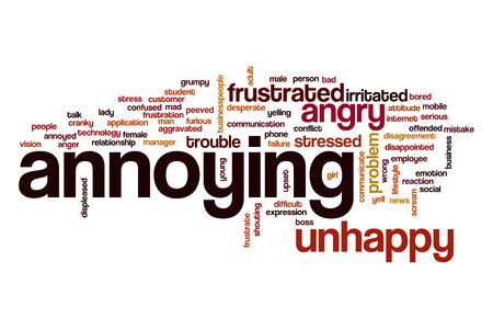 molesto: Molesta nube de palabras