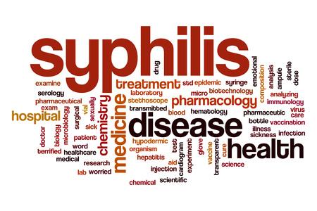 syphilis: Syphilis word cloud Stock Photo