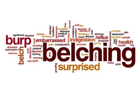 burping: Belching word cloud Stock Photo