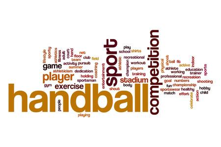 terrain de handball: Handball word cloud