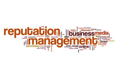 reputable: Reputation management word cloud