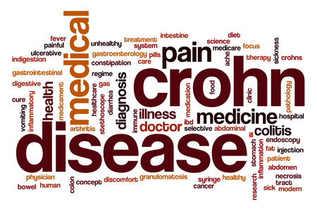 Crohn disease word cloud