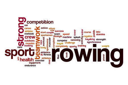 synchronous: Rowing word cloud