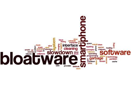 Bloatware word cloud