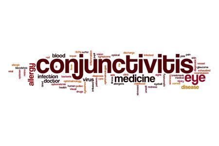 impair: Conjunctivitis word cloud Stock Photo