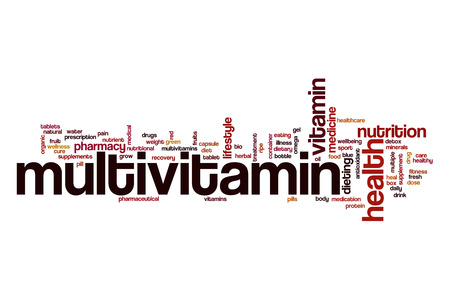 Multivitamin word cloud