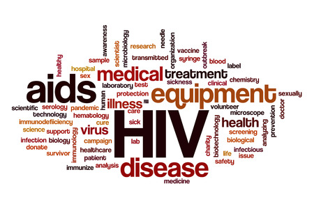 infected: HIV word cloud Stock Photo