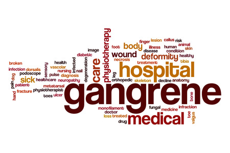 Gangrene word cloud